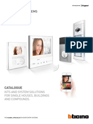 Display of 4 3/Inch 330651/ BTicino /Video Intercom Handsfree Grey