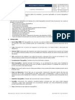 PRO.pry.CAL.001 Controlo Topográfico V01