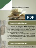 Macau Education System
