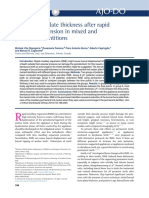 febrero 2019. Buccal bone plate thickness after rapid maxillary expansion in mixed and permanent dentitions.pdf