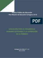 Política Pública de Educación - Plan Maestro de Educación Cartagena