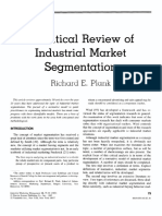 A Critical Review of Industrial Marketing Segmentation - Article