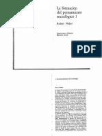 Nisbet, R - La Formación Del Pensamiento Sociológico Caps 1 y 2