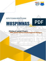 Hasil Muspimnas 2019 FINAL