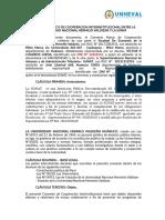Convenio Marco de Cooperacion Interinstitucional Entre La Universidad Nacional Hermilio Valdizan y La Asociación Civil Liderazgo e Intercambio - Aiesec en El Perú