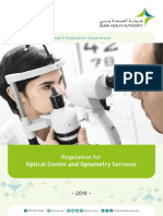 Regulation for Optical Center and Optometry Services Final