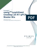 Oasig Lyophilised Onestep QPCR Handbook
