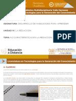 6.2 Caracteristicas en La Redaccion_final