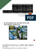contaminacion de los acuiferos en el ecuador
