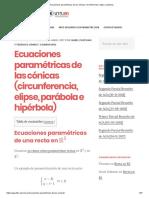 Ecuaciones Paramétricas de Las Cónicas_ Circunferencia, Elipse, Parábola..
