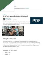 12 Week Mass Building Workout!