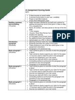 assessment scoring guide