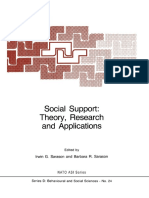 Social support, theory, research and application