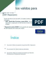 Documentos Validos Para Aplicacion de Garantia DAP y Reparacion
