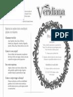 Veridiana - Ficha de Personagem (Preto e Branco)