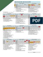 Calendário Escolar 2019 Centro Universitário UNA
