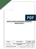 RA6-016 Instalacion de Medidor Bicuerpo Monofásico