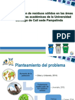 DIAPOSITIVAS Semana Ambiental Resiudos Sólidos Oficinas Academicos