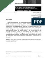SOSA Carlos Hernán - MALENTRETENIDOS, PUÑALES Y BESOS. Sobre Algunas Escenas Homoeróticas en La Tradición Gauchesca