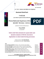 Solidshell finite elements for quasi-static and dynamic analysis of 3D thin structures
