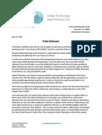 Public Statement - Global Technology Asset Partners