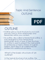 Topic and Sentence outline