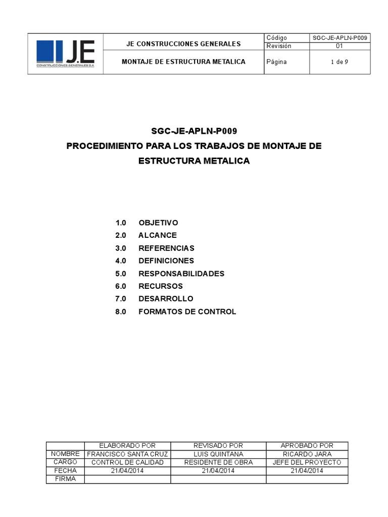 004 Montaje De Estructura Metalica