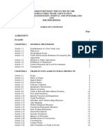 Philippines EFTA Table of Contents
