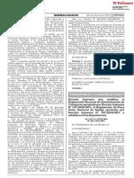 DECRETO SUPREMO 026-2019-MTC  QUE MODIFICA EL REGLAMENTO DE ADMINISTRACIÓN DE TRANSPORTE