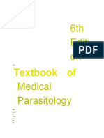 Textbook of Medical Parasitology, 6th Edition