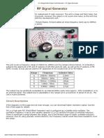 UK Vintage Radio Repair and Restoration - RF Signal Generator