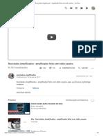 Reciclados Amplificados - Amplificador Feito Com Rádio Caseiro - YouTube