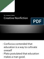 Creative Nonfiction Mdterms