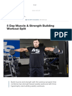 5 Day Muscle & Strength Building Workout Split