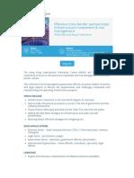 Register Now - Effective Cross-border Partnerships - Infrastructure Investment and Risk Management