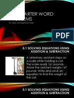 3rd quarter word problems-alg a