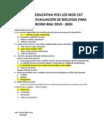 Evaluacion de Biologia III Bgu 2019