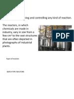 Process Control - Types of reactors