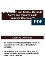2.13 Caquot and Kerisel Method - Active and Passive Earth Pressure Coefficients
