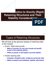 3.1 Introduction to Gravity (Rigid) Retaining Structures and Their Stability Considerations
