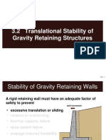 3.2 Translational Stability of Gravity Retaining Structures