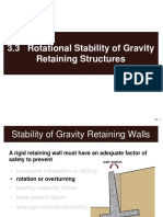 3.3 Rotational Stability of Gravity Retaining Structures