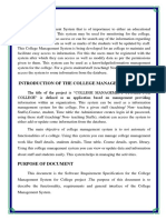 College management system synopsis