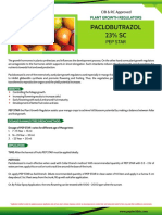 Paclobutrazol is one of the extensively used plant growth regulators