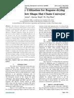 Solar Energy Utilization for Bagasse drying through Hollow Shape Slat Chain Conveyor