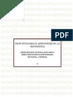 PROPUESTA DE APRENDIZAJE DE LAS MATEMATICAS