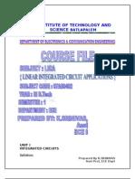 Lica Course File