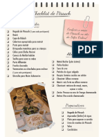 Checklist do Seder de Pessach