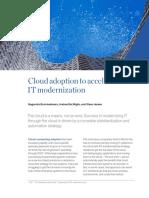 Cloud Adoption to Accelerate IT Modernization(1)