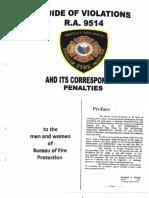 Guide for violation RA 9514